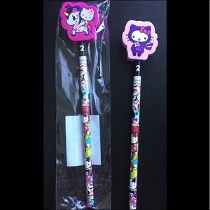 Tokidoki & Hello Kitty collaboration pencils (NEW)
